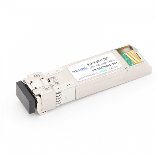 10GBASE-ZR SFP+ 1550nm 80km DOM LC SMF Module 10Gbs Transceiver