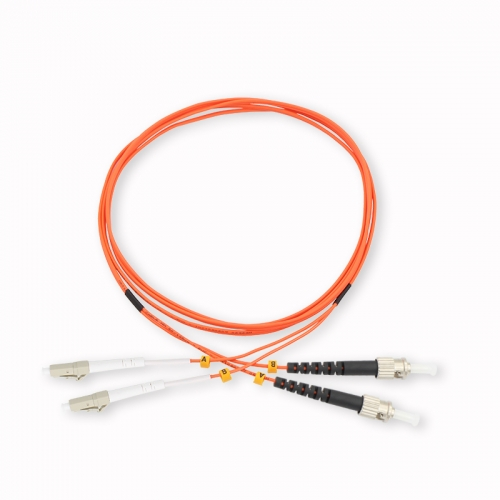 LC/UPC-ST/UPC Duplex OM2 50/125 Multi-mode Fiber Patch Cable
