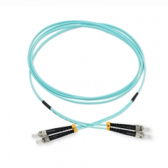 ST/UPC-ST/UPC Duplex 10G OM4 50/125 Multi-mode Fiber Patch Cable