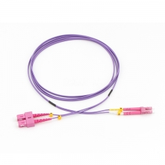 LC/UPC-SC/UPC Duplex 10G OM4 50/125 Multi-mode Fiber Patch Cable