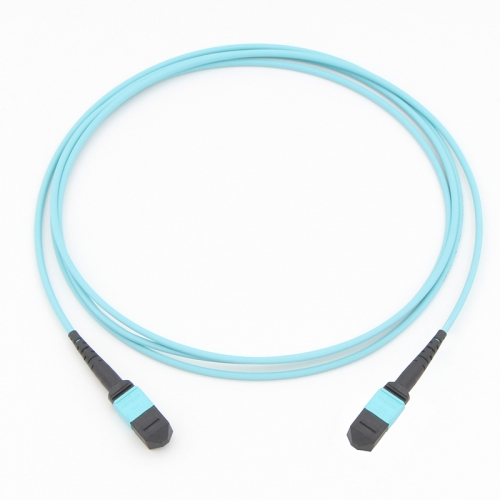 12 Fiber MTP(Male)-MTP(Male) 10G OM3 50/125 Multi-mode Fiber Optic Cable