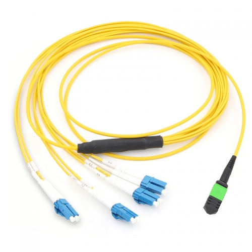 8 Fiber MPO(Male)-4LC Duplex 9/125 Single-mode Fiber Optic Harness Fan-out/Breakout Cable