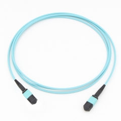 12 Fiber MPO(Male)-MPO(Male) 10G OM3 50/125 Multi-mode Fiber Optic Cable