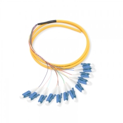 12-fiber LC/UPC 9/125 Single-mode Bunch Fiber Optic Pigtail