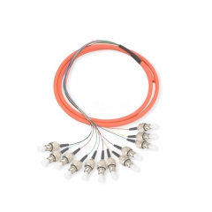 12-fiber FC/UPC 62.5/125 Multi-mode Bunch Fiber Optic Pigtail
