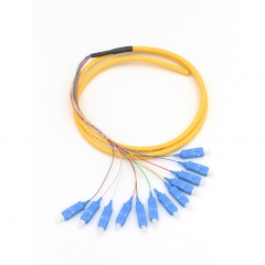 12-fiber SC/UPC OS2 9/125 Single-mode Bunch Fiber Optic Pigtail