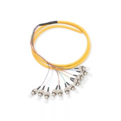 12-fiber FC/UPC OS2 9/125 Single-mode Bunch Fiber Optic Pigtail