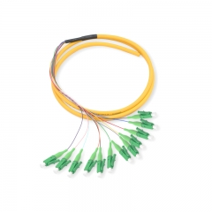 12-fiber LC/APC OS2 9/125 Single-mode Bunch Fiber Optic Pigtail