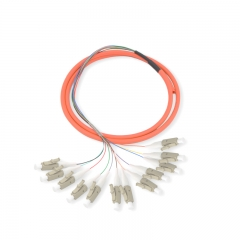 12-fiber LC/UPC 50/125 Multi-mode Bunch Fiber Optic Pigtail
