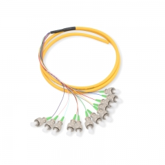 12-fiber FC/APC OS2 9/125 Single-mode Bunch Fiber Optic Pigtail