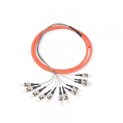 12-fiber ST/UPC 62.5/125 Multi-mode Bunch Fiber Optic Pigtail