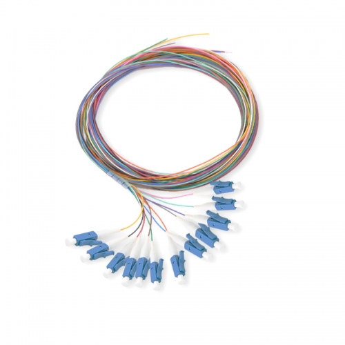 12-fiber LC/UPC 9/125 Single-mode Color-Coded Fiber Optic Pigtail