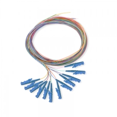 12-fiber E2000/UPC 9/125 Single-mode Color-Coded Fiber Optic Pigtail