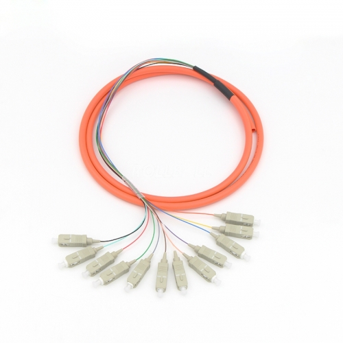 12-fiber SC/UPC 50/125 Multi-mode Bunch Fiber Optic Pigtail