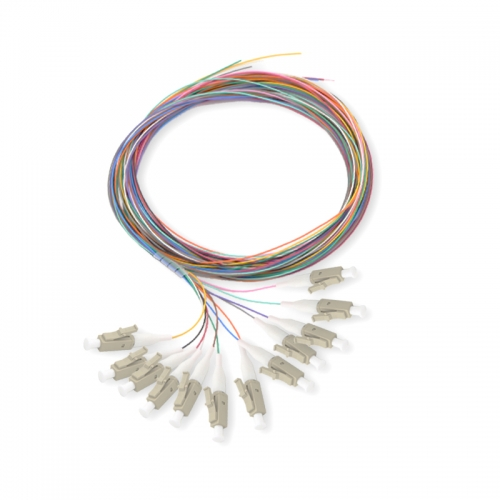 12-fiber LC/UPC Multi-mode Color-Coded Fiber Optic Pigtail