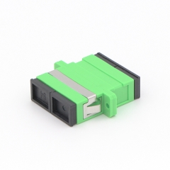 SC/APC to SC/APC Duplex Single-mode Plastic Fiber Optic Adapter