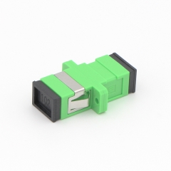 SC/APC to SC/APC Simplex Single-mode Plastic Fiber Optic Adapter