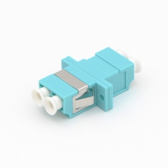 LC/UPC to LC/UPC Duplex 10G OM3 Multi-mode Plastic Fiber Optic Adapter
