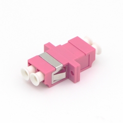LC/UPC to LC/UPC Duplex 10G OM4 Multi-mode Plastic Fiber Optic Adapter