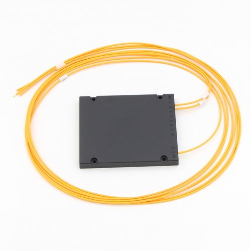 1x2 Fiber optical PLC Splitter, ABS box type splitter, 2.0mm