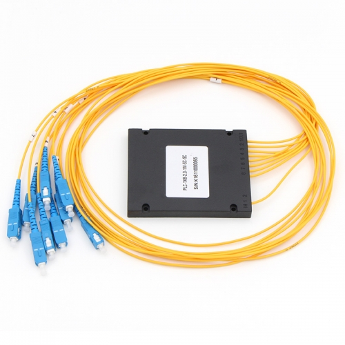 1x8 Fiber optical PLC Splitter, ABS box type splitter, 2.0mm