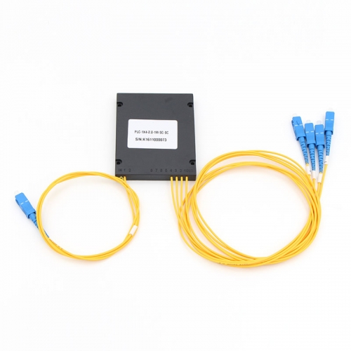 1x4 Fiber optical PLC Splitter, ABS box type splitter, 2.0mm