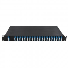 40 Channels C21-C60 Dual Fiber DWDM Mux Demux, 1U Rack Module, EXP+Monitor port optional, duplex LC/UPC