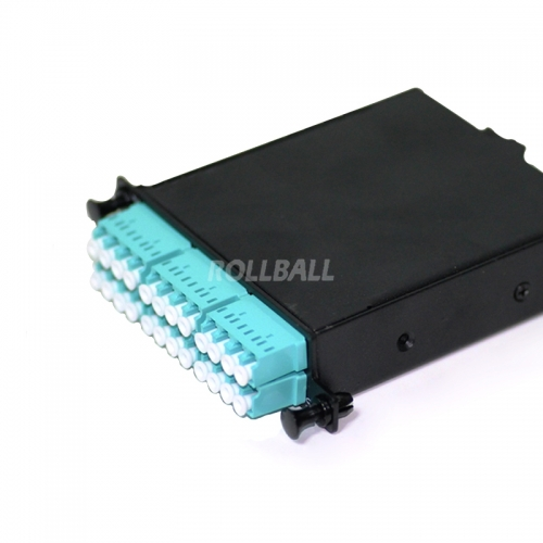 1xMPO Male to 6xLC/UPC Duplex, 12 Fibers 10G 50/125 OM3 MM MPO/MTP Cassette