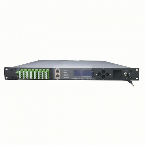 16-Port 1550nm CATV EDFA HA5X00 Series fiber Optical Amplifier LC/APC or SC/APC port