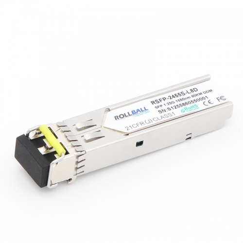 1000BASE-ZX SFP 1550nm 80km DOM LC SMF Module Gigabit 1.25Gbs Transceiver